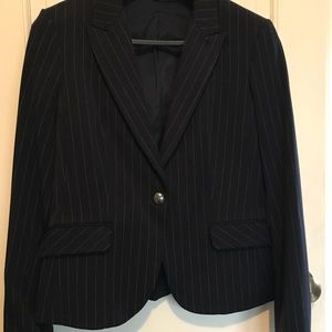 Express Blazer - Navy Pin Stripe